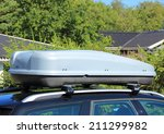roof box on car with tree... | Shutterstock . vector #211299982