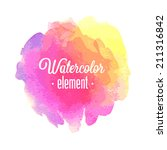 vector watercolor design... | Shutterstock .eps vector #211316842