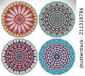 set mandalas. round ornament...   Shutterstock .eps vector #211318786