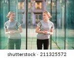 young beautiful business woman... | Shutterstock . vector #211325572
