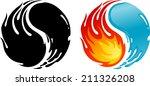 Fire Water Of Yin Yang Symbol