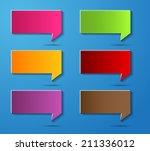colorful modern speech bubble... | Shutterstock .eps vector #211336012