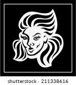 girl face | Shutterstock .eps vector #211338616