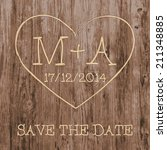Save The Date Card.  Love Heart ...