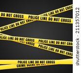criminal scene yellow line | Shutterstock .eps vector #211357012
