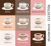 espresso cafe types | Shutterstock .eps vector #211357036