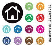 vector home buttons. basic web... | Shutterstock .eps vector #211365292