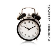 black alarm clock isolated on... | Shutterstock . vector #211369252