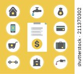 pay bill | Shutterstock .eps vector #211370302