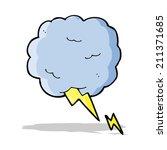 cartoon thundercloud symbol   Shutterstock . vector #211371685