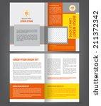 vector empty brochure template... | Shutterstock .eps vector #211372342
