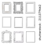 collection of various white... | Shutterstock . vector #211379662