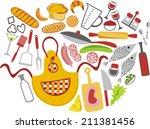 kitchen vector illustration | Shutterstock .eps vector #211381456