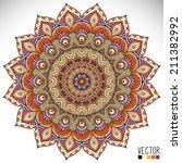 mandala. round ornament pattern.... | Shutterstock .eps vector #211382992