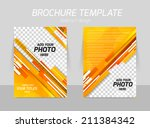 orange straight stripes back... | Shutterstock .eps vector #211384342