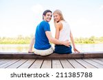 it is our first date. beautiful ... | Shutterstock . vector #211385788