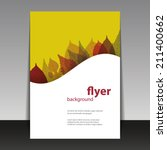 flyer or cover design   autumn... | Shutterstock .eps vector #211400662