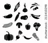 modern vegetable vector icon set | Shutterstock . vector #211410298