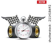 concept banner car racing and... | Shutterstock .eps vector #211418692