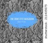 vector ink strokes effect... | Shutterstock .eps vector #211435075