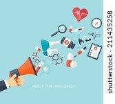medical flat vector background... | Shutterstock .eps vector #211435258