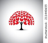 Heart Or Love Icons And People...