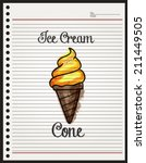 ice cream cone sketch on paper... | Shutterstock .eps vector #211449505