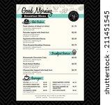 restaurant breakfast menu... | Shutterstock .eps vector #211451545