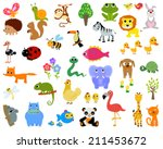 animals set | Shutterstock .eps vector #211453672