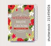 wedding invitation | Shutterstock .eps vector #211454026
