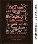 halloween party typography... | Shutterstock .eps vector #211458256
