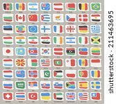set of world states flags.   Shutterstock .eps vector #211463695