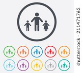 one parent family with two... | Shutterstock .eps vector #211471762