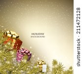christmas background with gifts.... | Shutterstock .eps vector #211472128