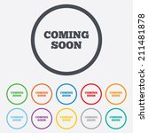 coming soon sign icon.... | Shutterstock .eps vector #211481878