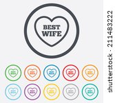 best wife sign icon. heart love ... | Shutterstock .eps vector #211483222