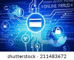 digitally generated image of... | Shutterstock . vector #211483672
