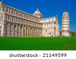 Gorgeous Piazza Dei Miracoli Square of Miracles in Pisa, Italy - stock photo