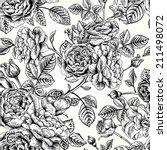 vector seamless vintage pattern ... | Shutterstock .eps vector #211498072