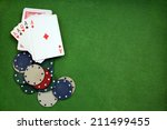 poker cloth  a deck of cards ... | Shutterstock . vector #211499455