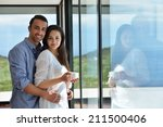 romantic happy young couple... | Shutterstock . vector #211500406