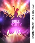 dance party poster background... | Shutterstock .eps vector #211509262