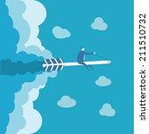 business man ride on the arrow  | Shutterstock .eps vector #211510732