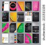 big collection advertising... | Shutterstock .eps vector #211531105