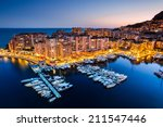 Night View On Fontvieille And...