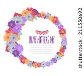 elegant floral frame  design... | Shutterstock .eps vector #211550692