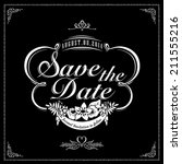 save the date for personal... | Shutterstock .eps vector #211555216