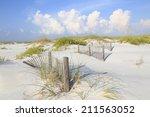 White Sand Florida Beach With...