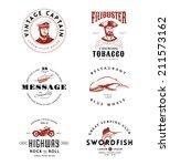 vintage logos set | Shutterstock .eps vector #211573162