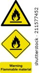 warning flammable material | Shutterstock .eps vector #211577452